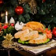 Christmas new year dinner — Stockfoto