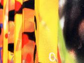 Multi coloured tag art — Stock Photo