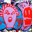 Graffiti cartoons — Stock Photo