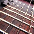 Electric guitar frets — Stock Photo