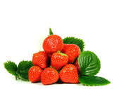 Isolated fruits fresh Strawberries — Stock Photo