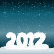 Royalty-Free Stock Obraz wektorowy: 2012 from snow