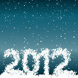 2012 from snowflakes — Stock Vector