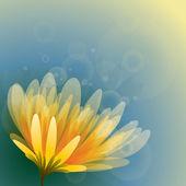 Soyut sarı çiçek — Stok Vektör