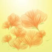 Abstract orange flowers — Vecteur