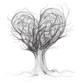 Tree like heart — Stock vektor