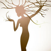 Tree like woman — Stock Vector