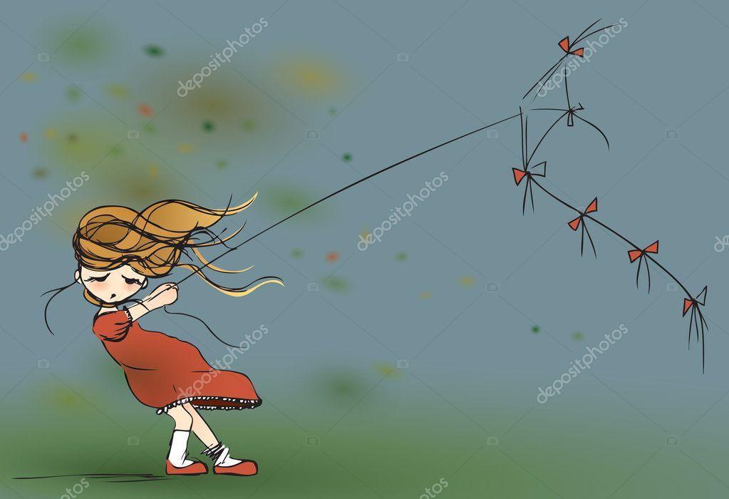 flying kite illustration - photo #27