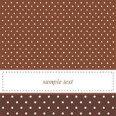 Dark brown vector card or invitation with polka dots — Stock Vector