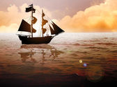 Ship Silhouette — Stock Photo