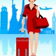 Royalty-Free Stock Vector Image: Traveling