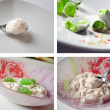 Dessert and sweets collage - Stockfoto