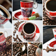 Coffee time collage - Stok fotoğraf