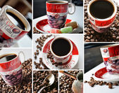 Kaffe tid collage — Stockfoto