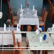 Restaurant tables and tableware — ストック写真
