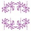 Flower decorative elements - Vettoriali Stock