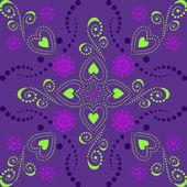 цветочные декоративного фона — Cтоковый вектор
