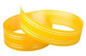 黄色条纹的丝带 — 图库照片