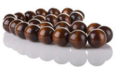 Wooden beads — Stock Photo