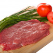 Stock Photo: Raw beef steak
