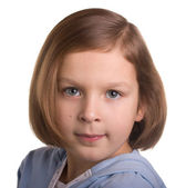 Portrait of seven year old girl — Stock Photo