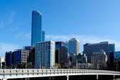 Melbourne Skyline and Queens Bridge — Stock Photo