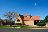 Beautiful family house over blue sky — Stock Photo