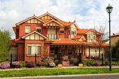 Beautiful two story brick home — Stock Photo