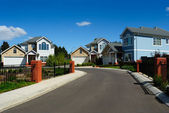 New family homes in small residential area — Stock Photo