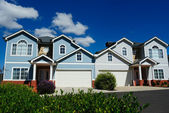 Very nice, attractive bright houses — Stock Photo