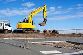 Construcción de una nueva acera — Foto de Stock