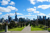 Melbourne city skyline — Stock Photo