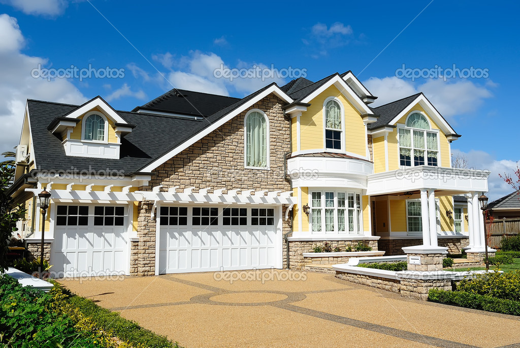 Elegant house design stock photo bolina 6958131 for Elegant farmhouse plans