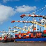 Cargo ships at harbor — Stock Photo #7252652