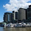 Luxury waterfront apartments — Stock Photo