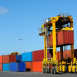Port Container Carrier - Stock Photo
