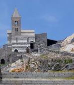 Portovenere's cathedral, Italy — Stock Photo