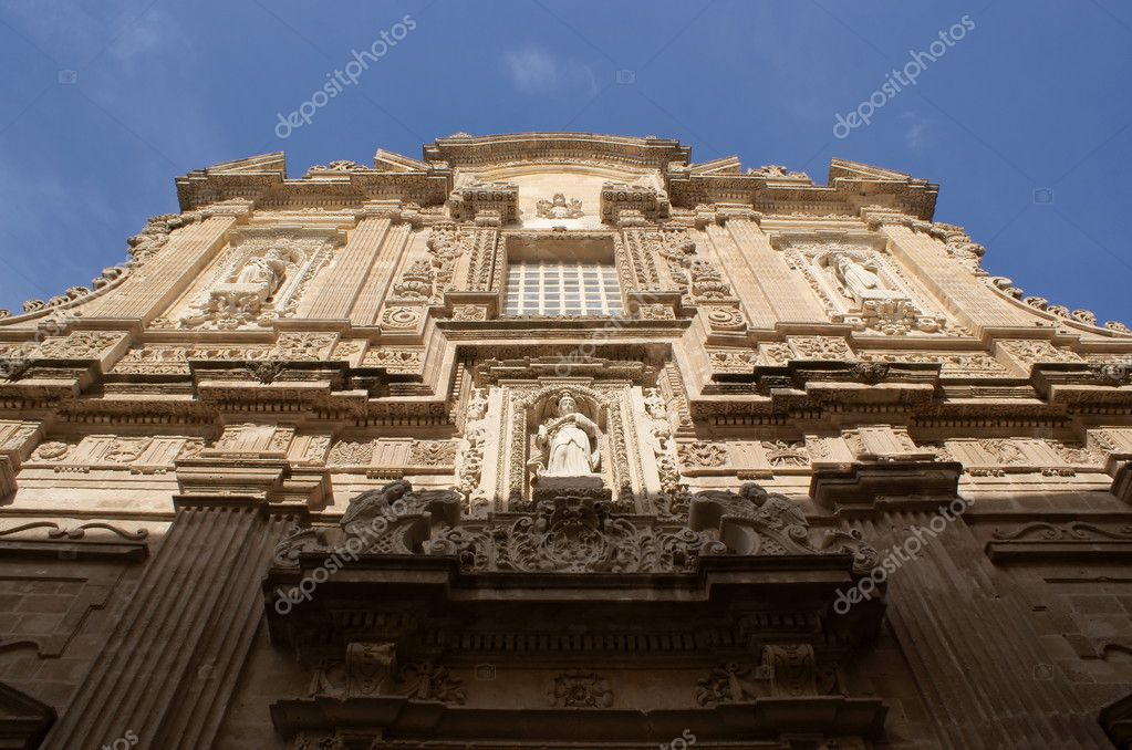 Front of Cathedral of Gallipoli, Apulia, Italy, Europe — Stock Photo #6822134