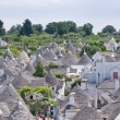 View of Alberobello in Apulia, Italy - Stock Photo