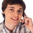 Young man having phone conversation — Stock Photo #7282831