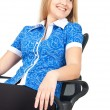 Stock Photo: Business woman sitting in chair