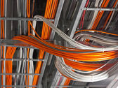 Bunch of network cables — Stock Photo