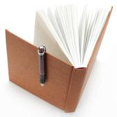 Memorando com caneta — Fotografia Stock