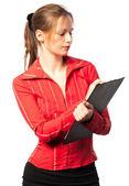 女商人做笔记 — 图库照片