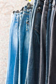 Jeans for sale — Stockfoto