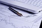 Finance diagram analys — Stockfoto