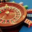 Stock Photo: Roulette table in casino with chips close-up