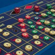 Casino - american roulette table - Stock Photo