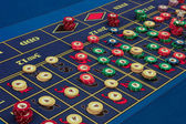Casino - american roulette table — Stock Photo