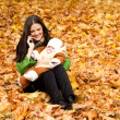 Young mom with child in hand — Stock Photo